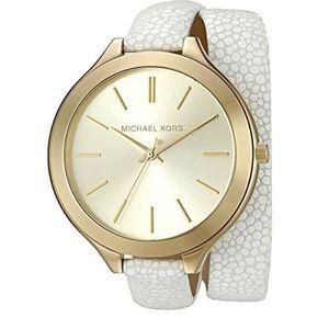 Michael Kors Women's Slim Runway White Watch